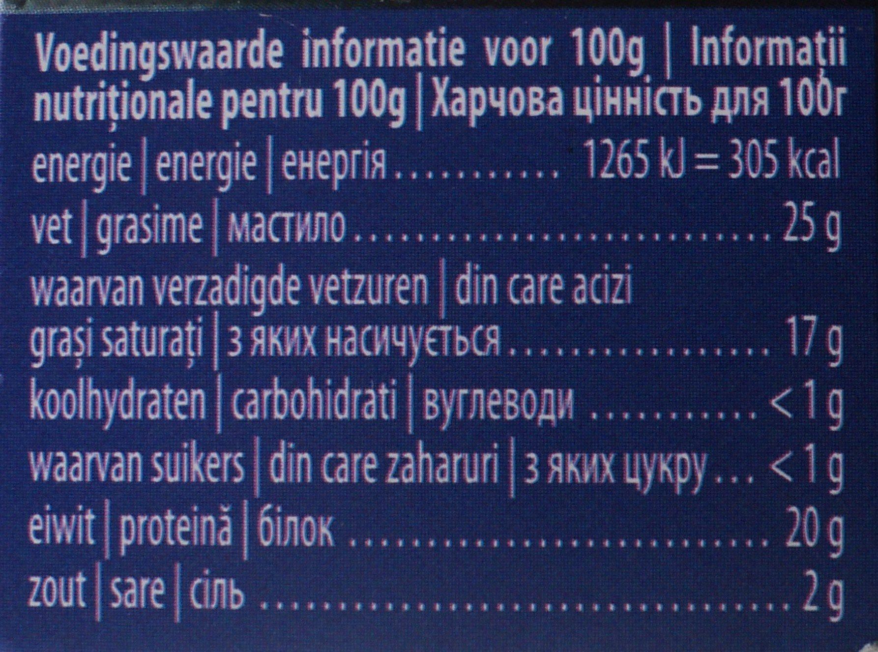 Alpenhaim Branza Brie - Nährwertangaben - ro