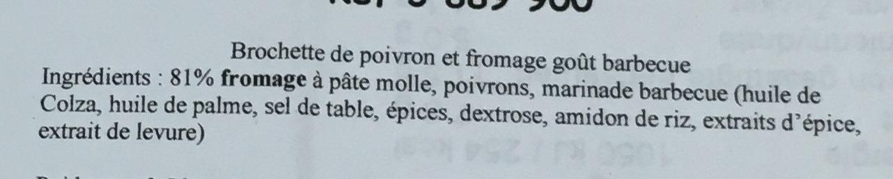 40 brochettes bbq cherry pepper - Ingrédients - fr