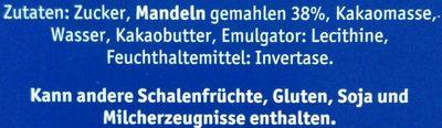 Lübecker Edelmarzipan Happen - Inhaltsstoffe