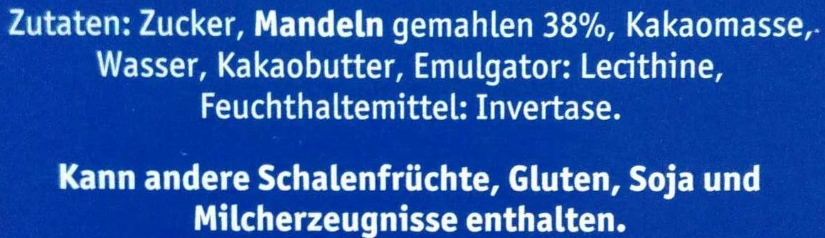 Lübecker Edelmarzipan Happen - Ingrédients - de