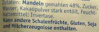 Lübecker Edelmarzipan-Kartoffeln - Inhaltsstoffe