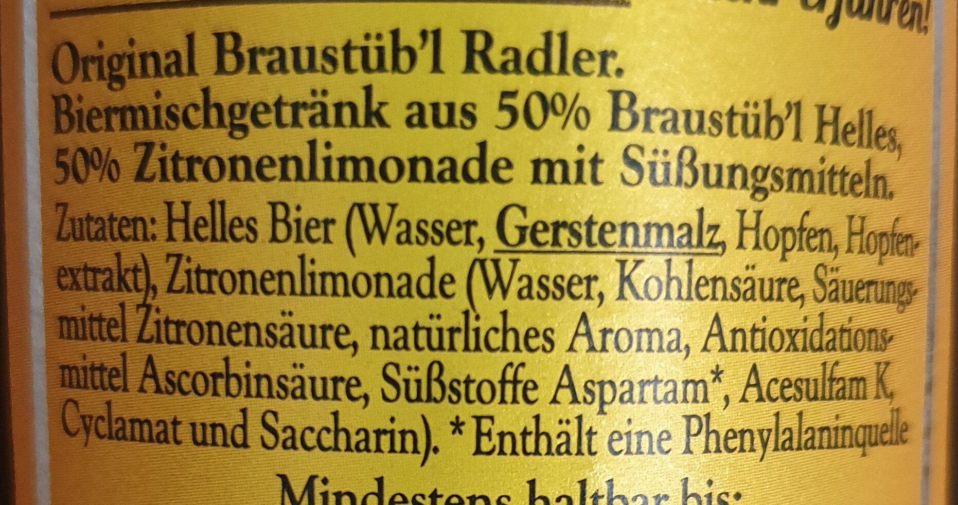 Braustüb'l Radler - Ingredients