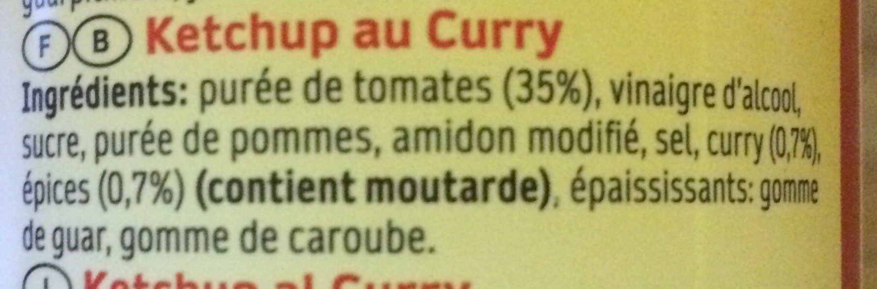 Curry Ketchup - Ingredients