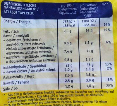 Crazy Frites - Valori nutrizionali - de