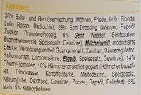 Hähnchen Salat - Ingredients - de