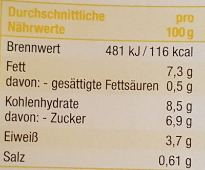 Hähnchen Salat - Nutrition facts - de