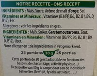 Corn Flakes 750 gr - Ingrédients