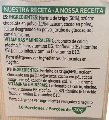 Choco krispies - Ingredientes