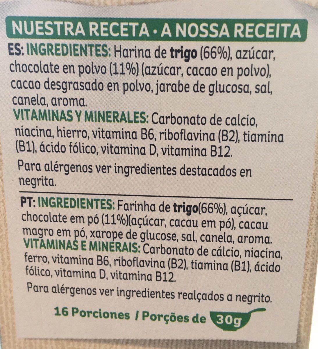 Choco krispies - Ingredientes - fr