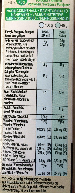 Kellogg's Toppas Traube - Informations nutritionnelles - fr
