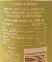 Zitronenlimonade - Nährwertangaben - de