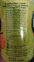 Bizzl Mandarine Mango - Valori nutrizionali - de