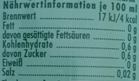 Lemon kalorienarm - Nährwertangaben - de