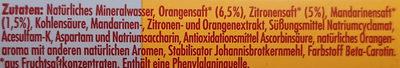 Orange kalorienarm - Zutaten - de