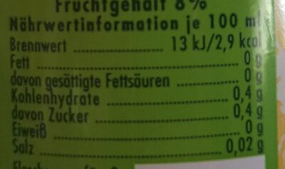 Bizzl Naturherbe Zitrone Zuckerfrei - Nährwertangaben - de