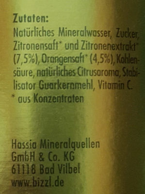 Premium Limonade Feine Zitrone - Ingredients
