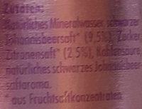 Premium Limonade Feine Johannisbeere - Ingredients