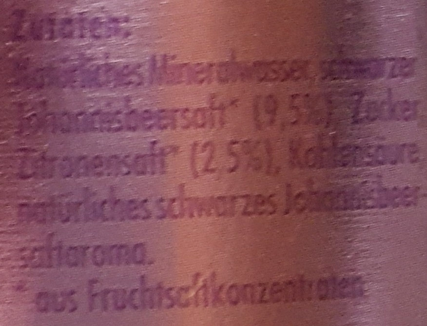Premium Limonade Feine Johannisbeere - Inhaltsstoffe