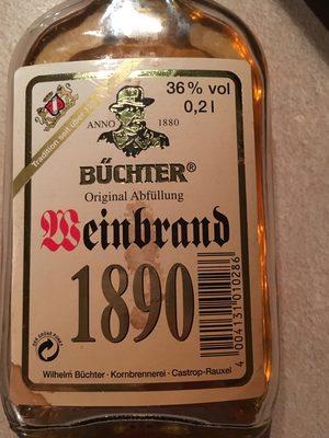 Weinbrand 1890 - 1
