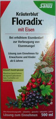 Kräuterblut Floradix mit Eisen - Produkt