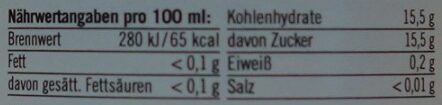 Sauerkirsche - Nährwertangaben - de