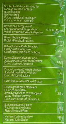 Spätzle-Käse - Informations nutritionnelles - de