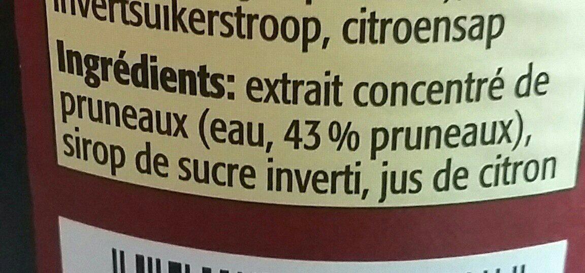 JUS DE PRUNEAUX - Ingredients - fr