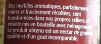 Nectar de myrtilles - Ingredients - fr