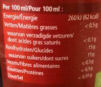 Nectar de myrtilles - Nutrition facts - fr