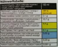 Apfel-Birnensaft Direktsaft - Informations nutritionnelles - fr