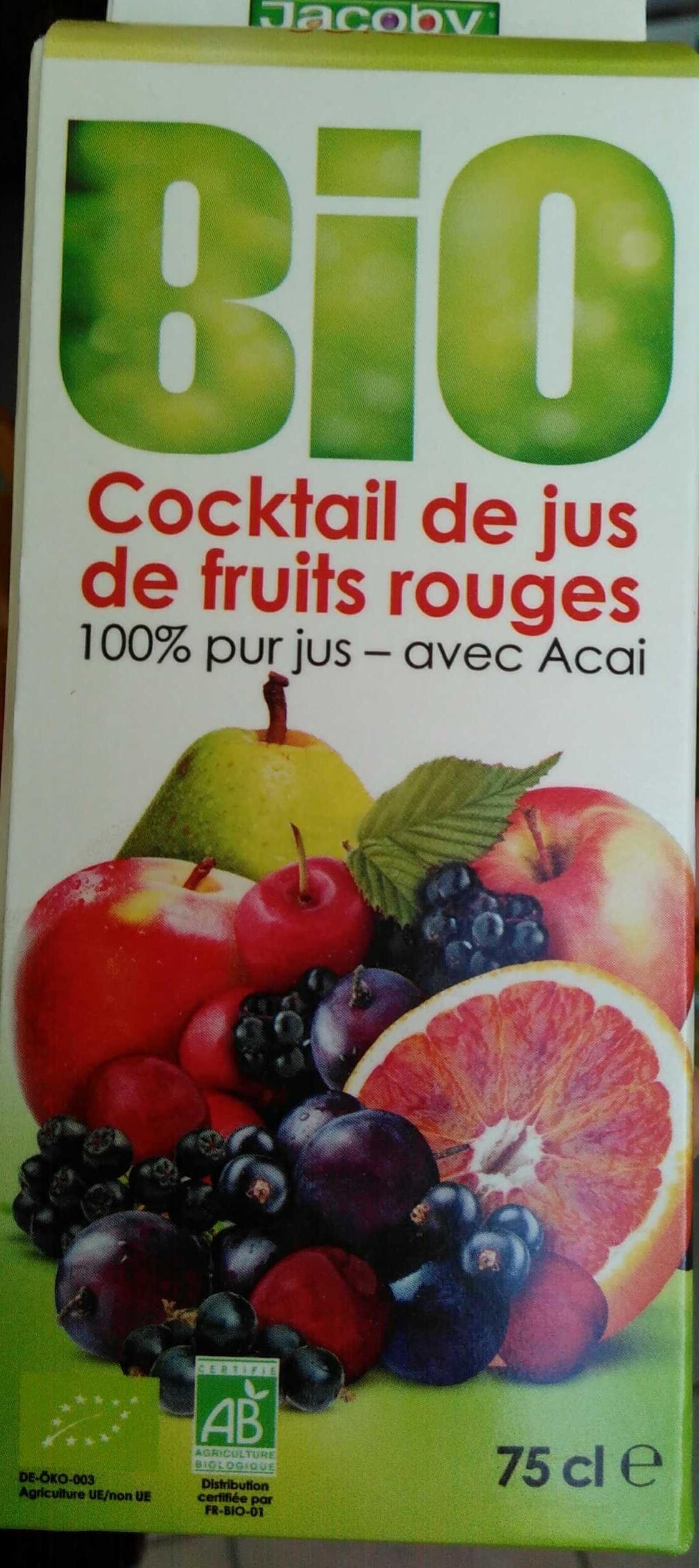 Cocktail de jus de fruits rouges 100 pur jus jacoby for Cocktail jus de fruit