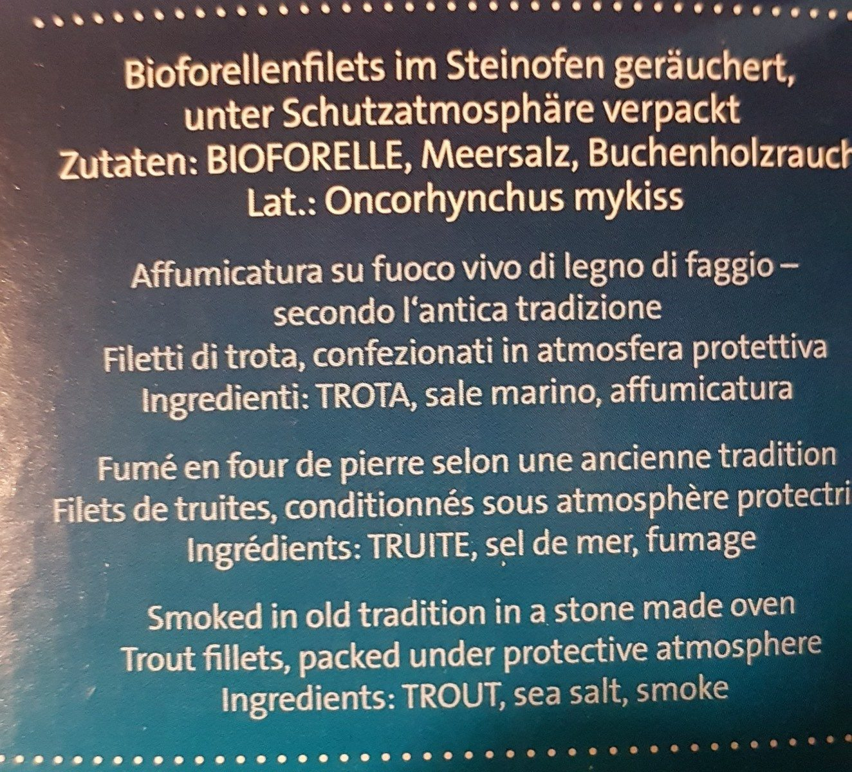 Forellenfilets - Ingrediënten