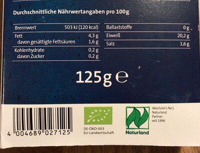 Bioforellen - Nutrition facts - de