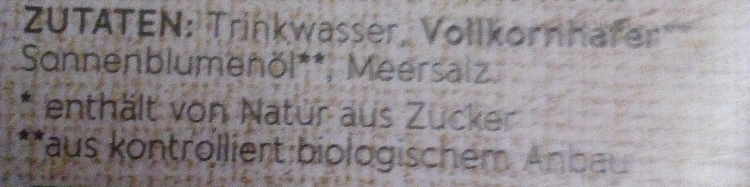 Bio Hafer Drink - Inhaltsstoffe - de