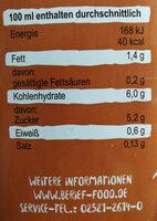 Bio Hafer Drink - Nährwertangaben - de