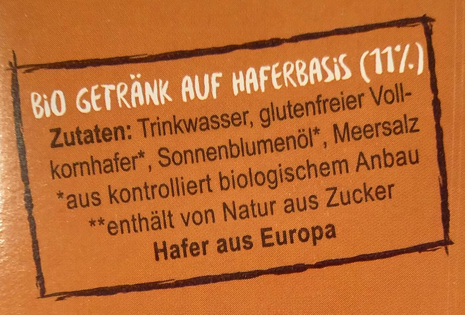 Bio Hafer Natur - Ingredients - de
