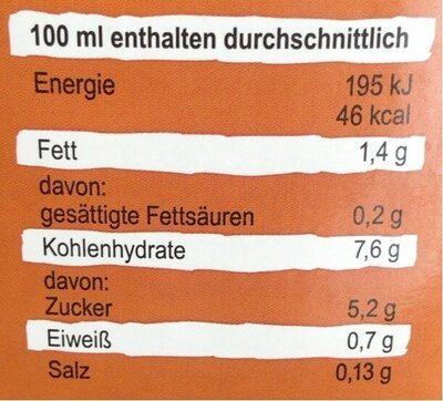 Bio Hafer Natur - Nutrition facts