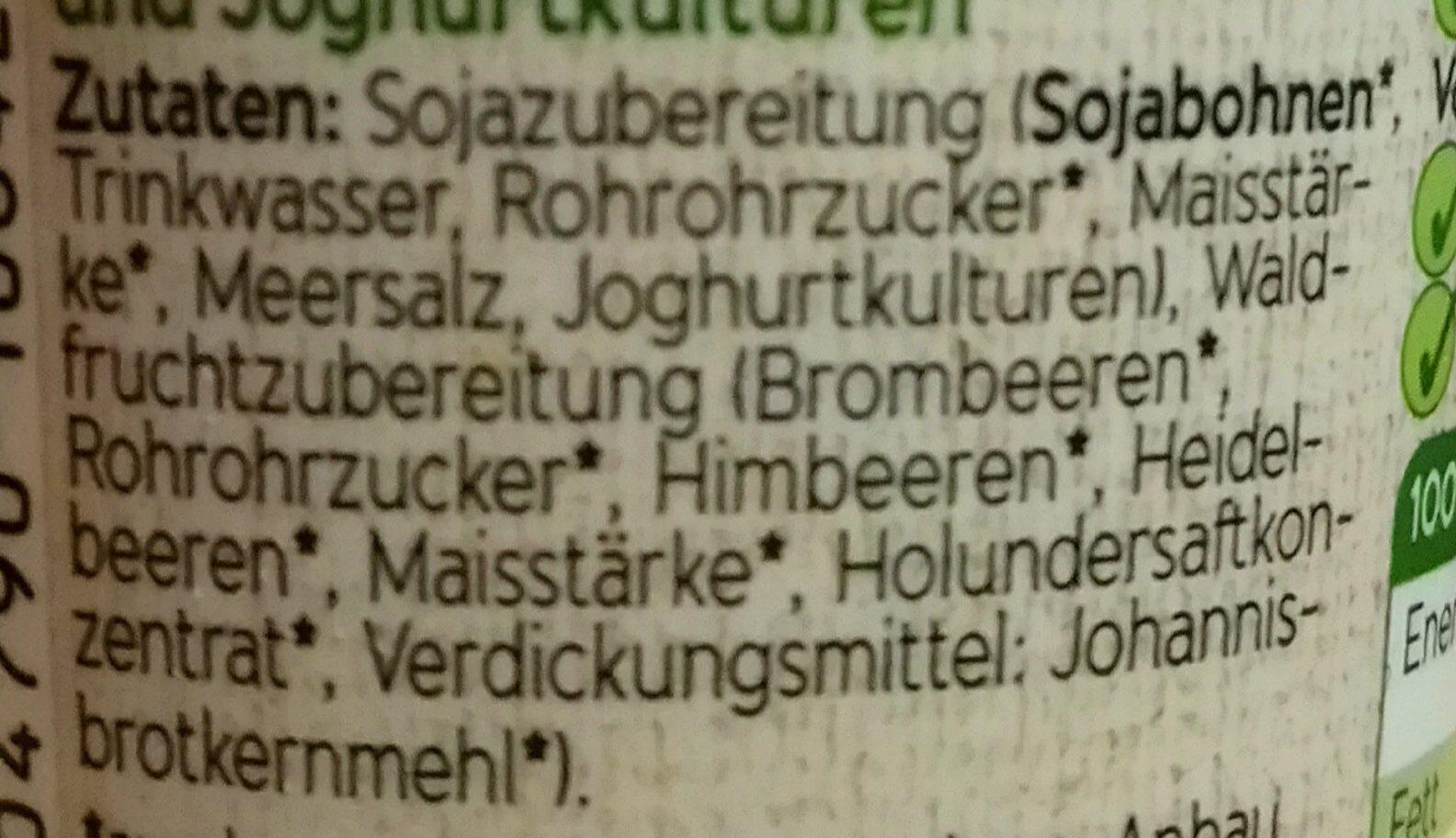 Bio Sojaghurt Waldfrucht - Ingrédients - de