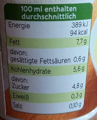 Bio Hafer Kochcreme - Nutrition facts - de