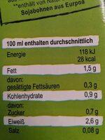 Bio Soja Naturell - Valori nutrizionali - de
