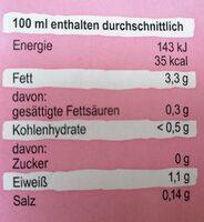 Bio Mandel Natur - Informazioni nutrizionali - de