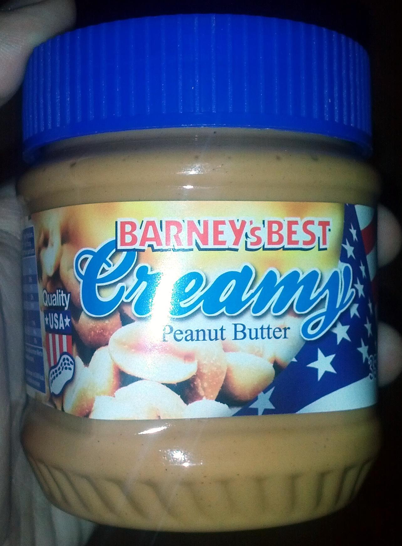 Barney's Best Creamy Peanut Butter - Produit