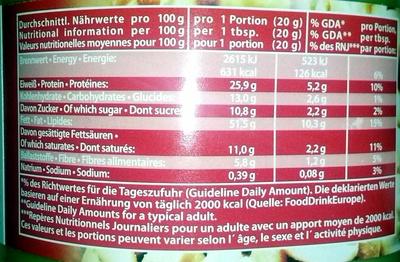 Crunchy Peanut Butter - Voedigswaarden