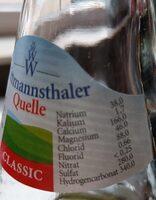 Classic Schwarzwälderwasser - Informations nutritionnelles - de