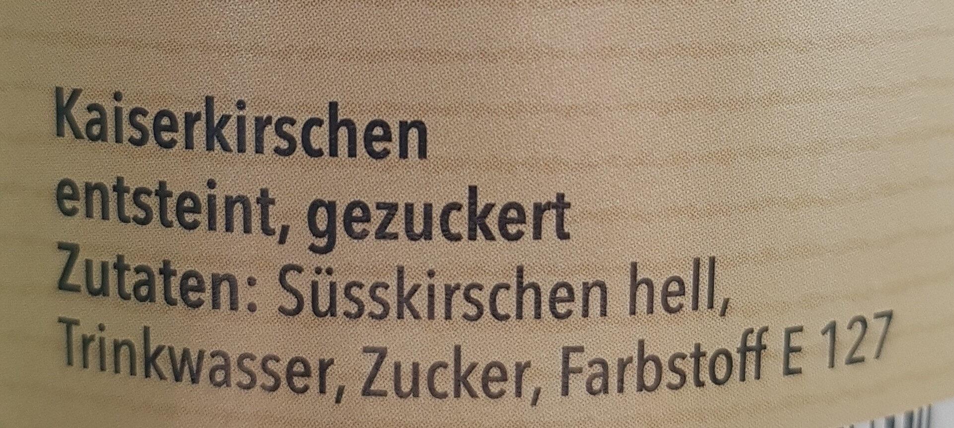 Kaiserkirschen entsteint, gezuckert - Ingredients - de