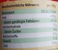 Kaiserkirschen entsteint, gezuckert - Nutrition facts - de