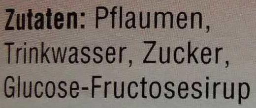 Pflaumen - Ingrédients - de