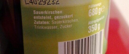 Reinhardswald Sauerkirschen - Ingrediënten - de
