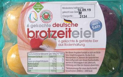6 gekochte deutsche brotzeiteier - Product - de
