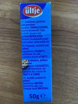 Erdnüsse geröstet und gesalzen - Ingrédients - de